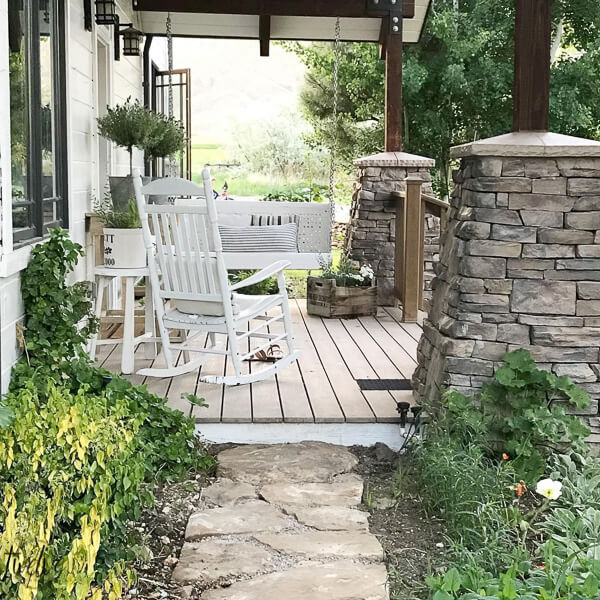 Updated Vintage Metal Glider to a New Porch Swing