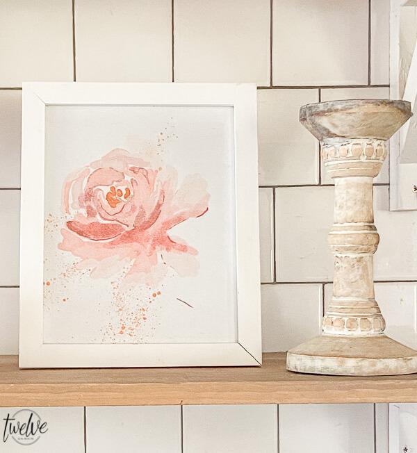 Watercolor Peony Printable to Print at Home
