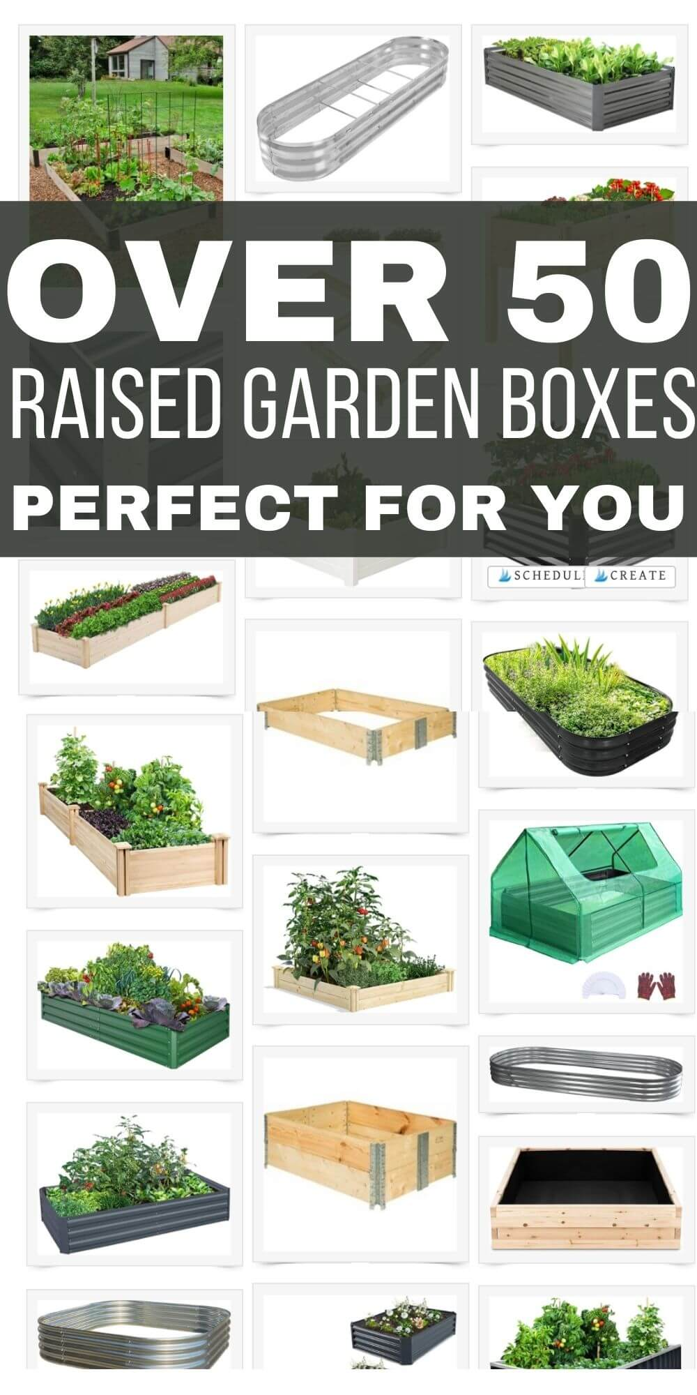 Want to start your own garden? This post has tons of gardening info including over 50 raised garden boxes perfect for your needs.
