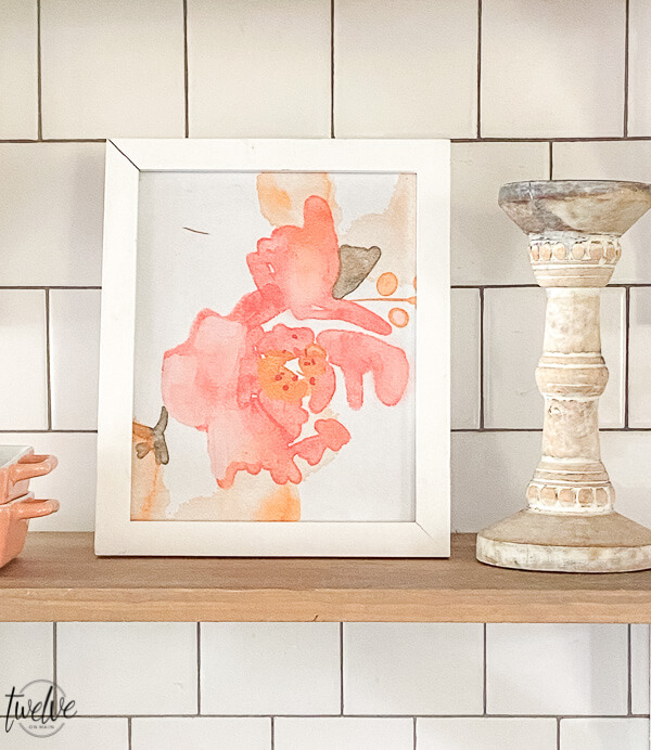 Get this set of 4 watercolor floral printables for FREE! They are handpainted, gorgeous fluid floral paintings using watercolor.