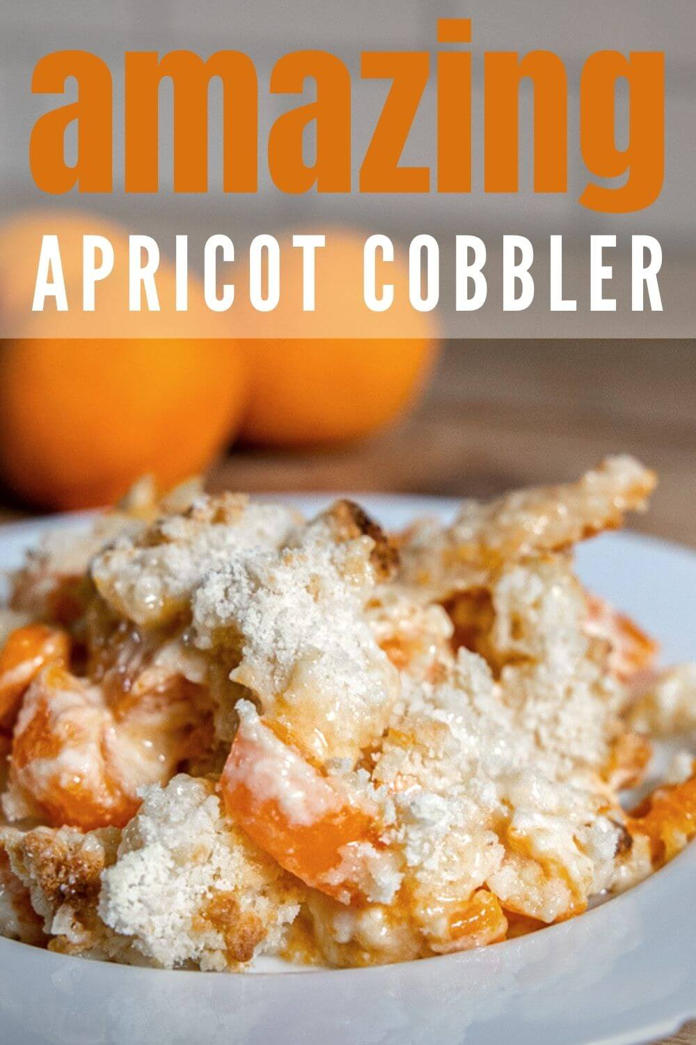 Make this amazing cheesecake apricot cobbler right now! This apricot dessert is the perfect combination of sweet, tart, and creamy!