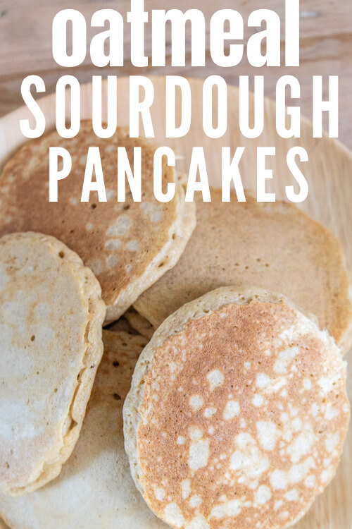 How to make amazing oatmeal sourdough discard pancakes that are light and fluffy and taste amazing! Its a great us for your sourdough starter