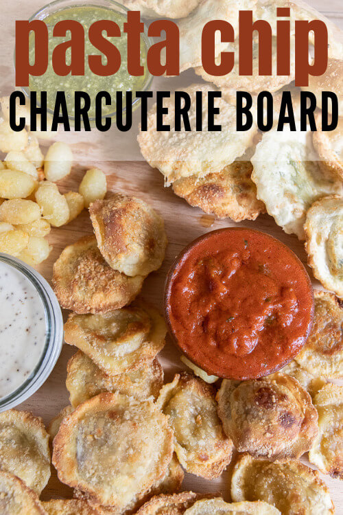 Air fryer pasta chips turned into a full charcuterie board full of amazing flavors and there is something for everyone!
