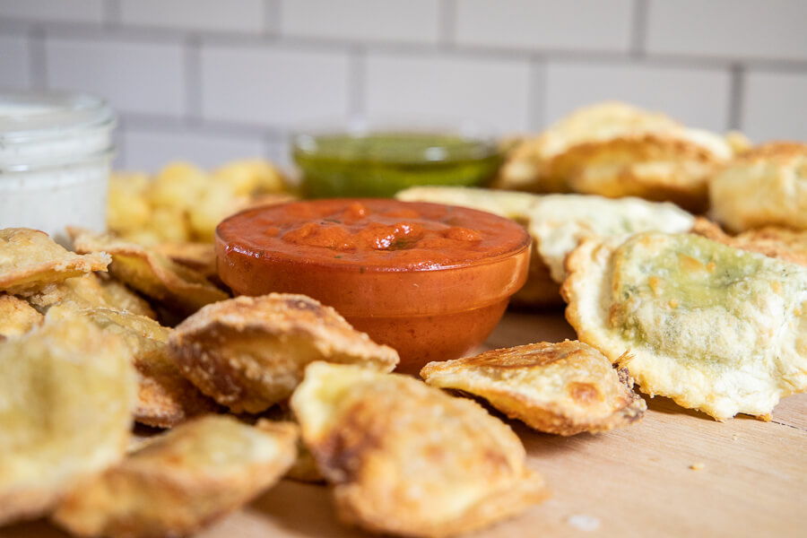 Air fryer pasta chips made easy!