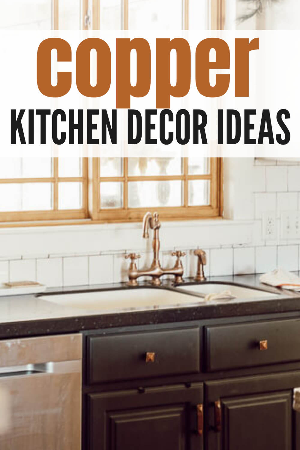 How to effectively incorporate copper into your kitchen with these awesome copper kitchen decorating ideas. There are so many options!
