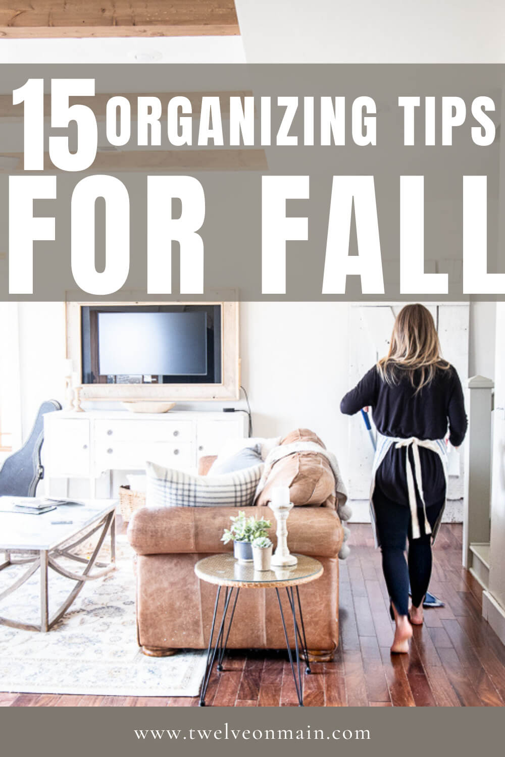 15 organizing tips to help you prepare for fall and the oncoming holidays!  These actionable tips can help alleviate unwanted stress.