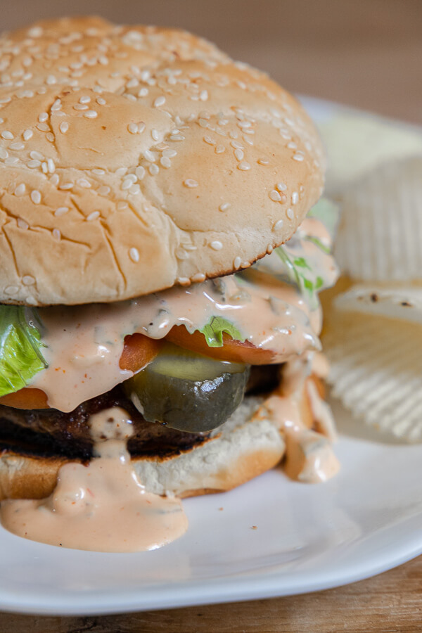 Easy to make copycat In N Out sauce recipe that is perfect for your next hamburger!  This is easy to make and tastes amazing on your burgers!