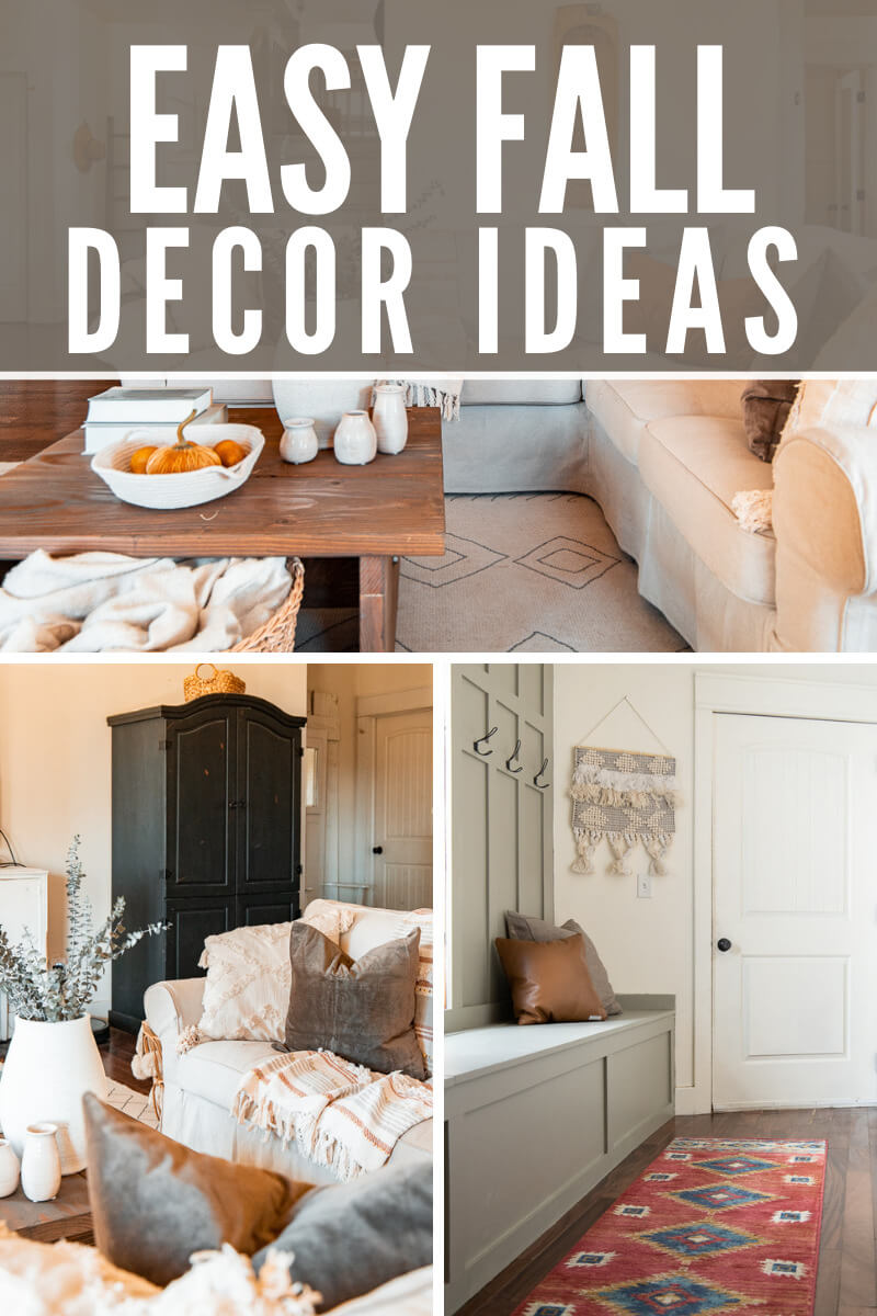 I have 5 easy steps to adding simple elements to your home during the fall that will make it last and is affordable too!  Check out these easy fall decor ideas, and how you can create a fall look without going over the top.