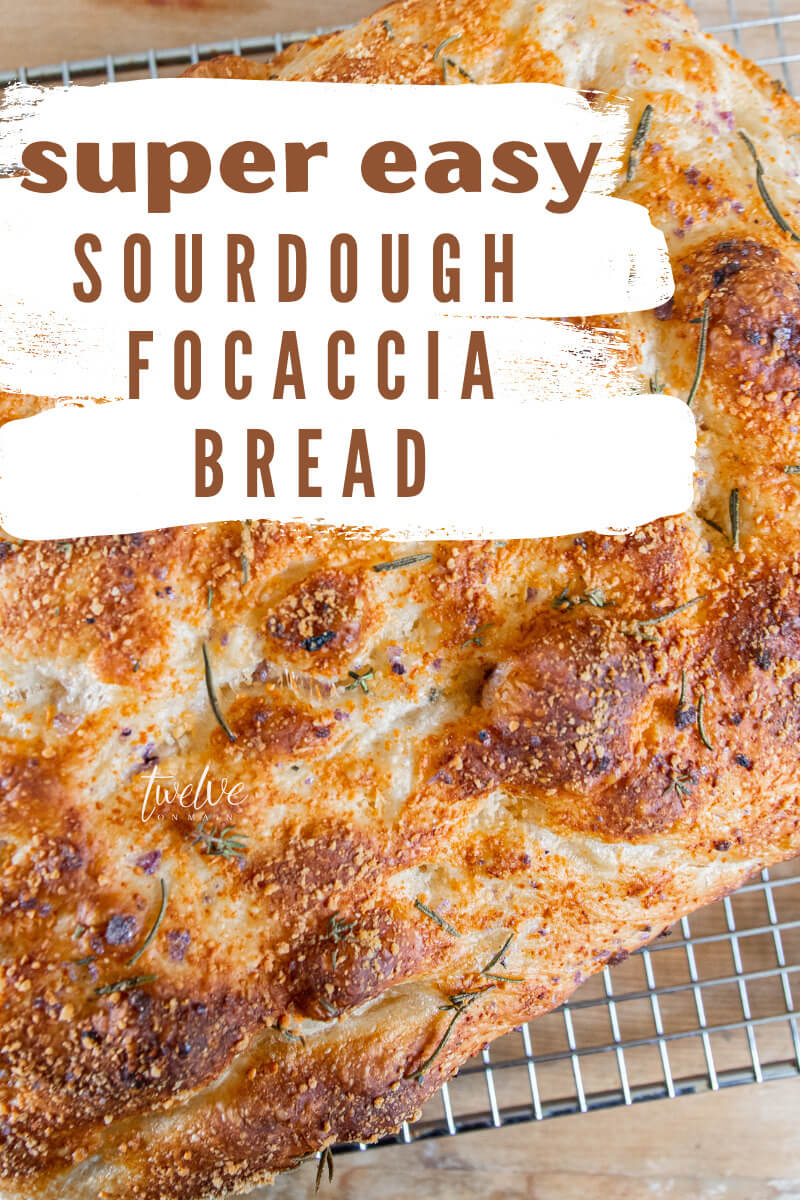 Make this incredibly easy sourdough focaccia bread today! This is by far my families favorite bread, it is easy to make and tastes amazing!