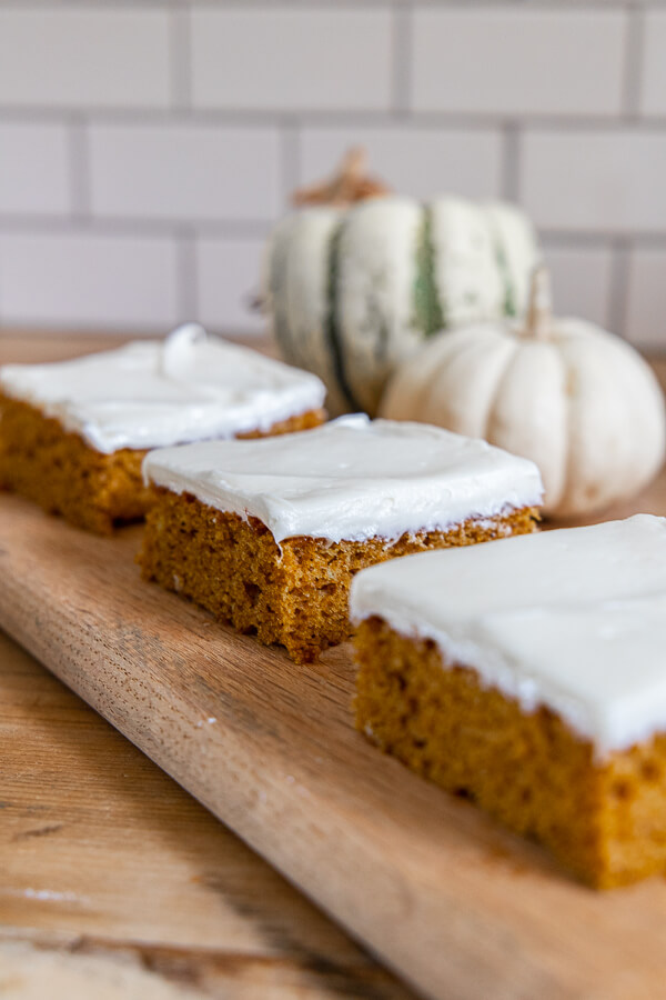 The most decadent pumpkin sheet cake recipe.  This pumpkin dessert is the perfect ting to make for parties or just for your family~