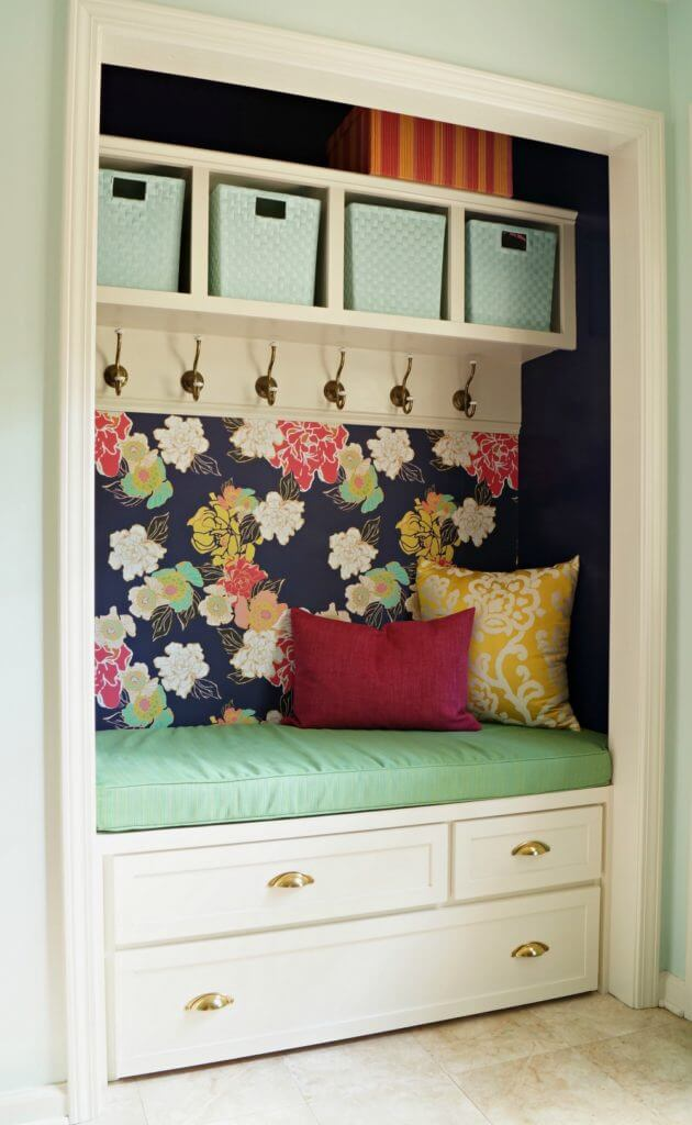 Over 30 gorgeous and functional mudroom bench ideas, including entire mudroom spaces with storage, style and so many ideas.