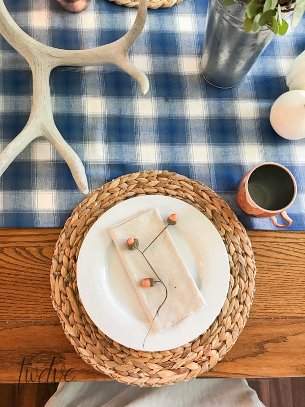 Early Harvest Tablescape with Free Watercolor Printables